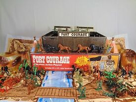vintage 1981 fort courage cowboys and