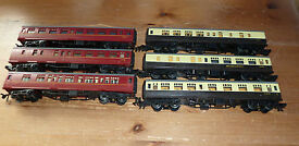 6 x playcraft joeuf british mk 1 coaches ho