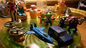vintage 1980 mixed lot of toys and memory s
