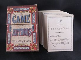 19th century mcloughlin bros game of authors