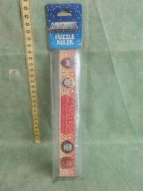 1984 masters of the universe puzzle ruler
