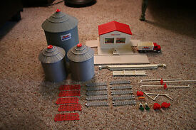 vintage farm country grain and feed toy set