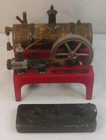 vintage 14 horizontal steam engine toy nice
