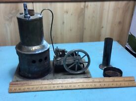 antique original steam toy model 123 hit and