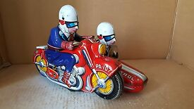 1950s asahi large japan tin toys motorcycle