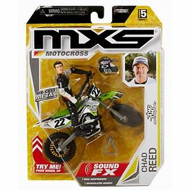 mxs motocross toy dirt bike and rider chad