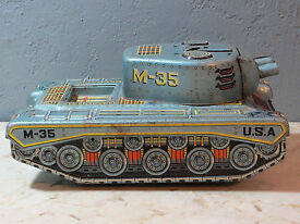 vintage tin m 35 usa tank by made in japan