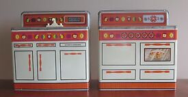 tin kitchen sink and stove oven 2 piece toy