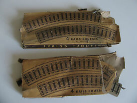vtg french train rails in original box