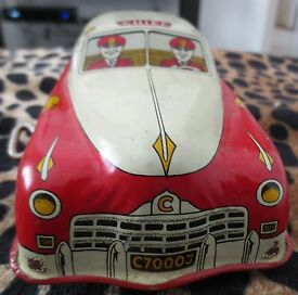 vintage metal car fire chief 1940 s