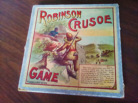 antique game of robinson crusoe and friday