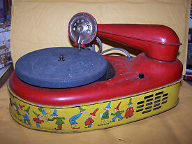 tin toy electronic phonograph lindstrom corp