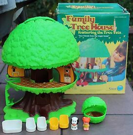 vintage kenner family tree tots house