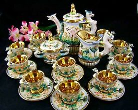 vintage tea service for 12 with cherubs lots