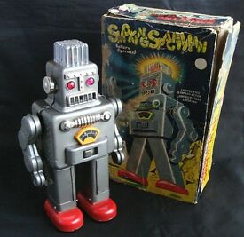 tin toy smoking spaceman reinmar