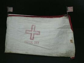 vintage barclay medical unit tent with flags