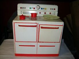 1950s tin toy litho kitchen stove made in