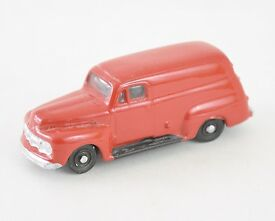 ho 1951 ford panel delivery truck red metal