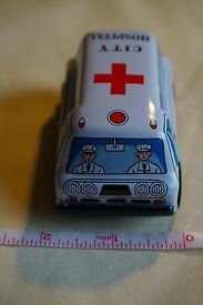 new vintage y metal tin toy friction
