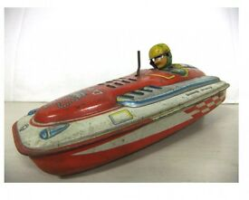 retro tin boat total length 21cm shop