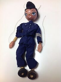vintage 1950 s england sm policeman puppet