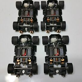 tyco 440x2 wide pan chassis complete lot of