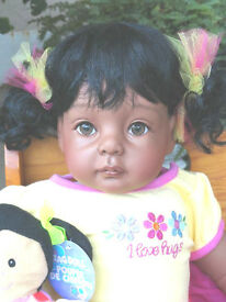 reborn 22 african american aa ethnic toddler