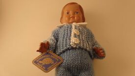 vintage schildkrot 9 1 2 boy doll light blue