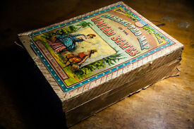 antique toy board game mcloughlin bros map
