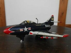 tin toy toyama made f9f cougar jet fighter