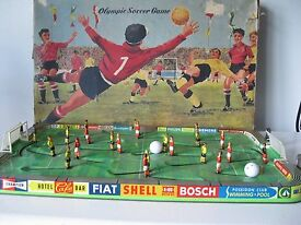 vintage early 1960 s tin olympic soccer game