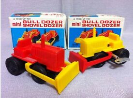 mainspring mini bulldozer two made in japan