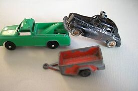 vintage marx wrecker truck police car and