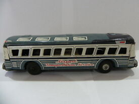 vintage 1960s japanese tin friction airport