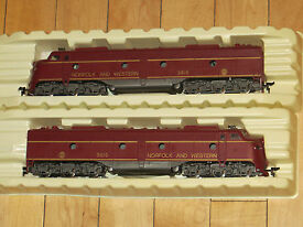 two ho norfolk and western e8 engines in
