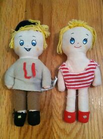 vintage go go kids tiny twins dolls made in