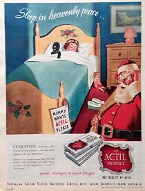 actil sheets ad retro golli doll 1953