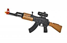 light up battery operated toy ak47 machine