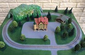 z scale train layout