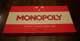 vintage 1972 monopoly property trading board