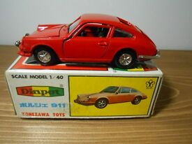 vintage yonezawa porsche 911s with box from