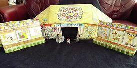 marx tin litho tent 3 sideshows super circus