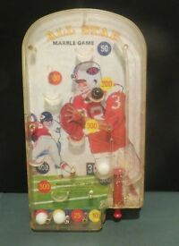 vintage all star football marble game