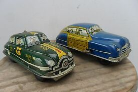 rare pair dick tracy wood car marx made in