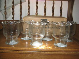home interiors set of 6 glass candleholders