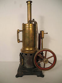 antique brass vertical stationary live steam