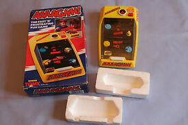 tomy aaaaghh electronic handheld game in box