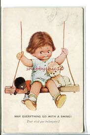 mabel lucie attwell early card girl gollywog
