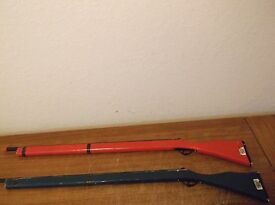 2 vintage parris savannah rifle musket toy