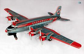 rare large nwa northwest airlines 4 prop